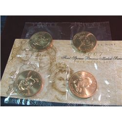 1230. 2007 First Spouse Bronze Medal Series Four-Medal Set.