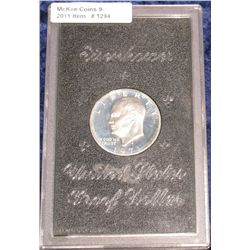 1294. 1971 S Proof Silver Eisenhower Dollar in original case.