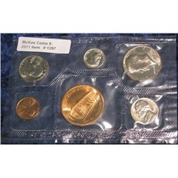 1297. 1980 Denver Mint U.S. Coin Souvenir Set. Cent to Half Dollar