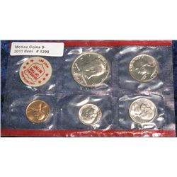 1298. 1972 Denver U.S. Mint Set in red cellophane. BU.