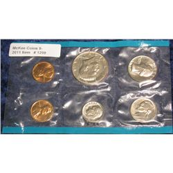 1299. 1971 Blue Pack of U.S. Mint Set. Original cellophane.