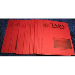 1313. 1973  Tams Journal  Magazines. Volume 13 no. 1-6.