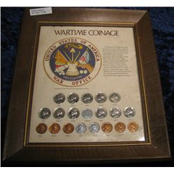 "1362. Framed Set ""Wartime Coinage"". Includes 11 pc."