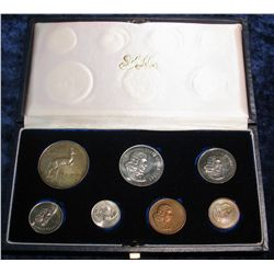 1363. 7-Piece 1966 South African Proof Set with Silver.