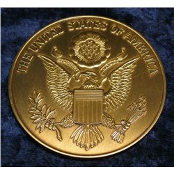 "1383. Large Brass ""The United States of America"" Medal."