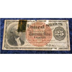 1414. March 3RD, 1863 25c U.S. Fractional Currency. AG.