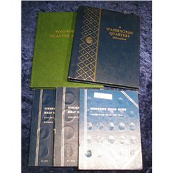1445. (5) Coin Folders & Albums. Like New.