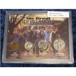 1449. The Great Depression 1929 Coin Set.