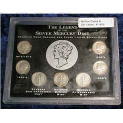 1450. Legend of the Silver Mercury Dime. 7-Coins.