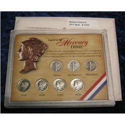 1459. Legend of the Mercury Dime. 7-Coins