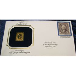 1470. 1861 12c Washington 22K Gold Stamped Cover.