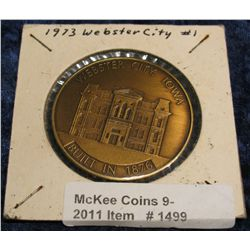 1499. 1973 Webster City, Iowa #1 Bronze Medal