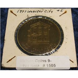 1505. 1977 Webster City, Iowa #5 Bronze Medal