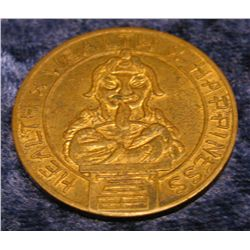 1520. Good Luck, Health, Wealth & Happiness Medal.