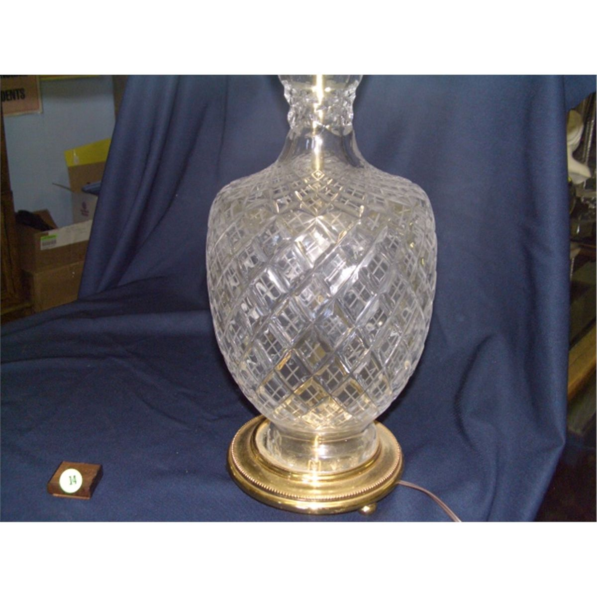 2 piece matching cut crystal glass table lamps waterford no marks 2 piece matching cut crystal glass table lamps waterford no marks found 29 aloadofball Gallery
