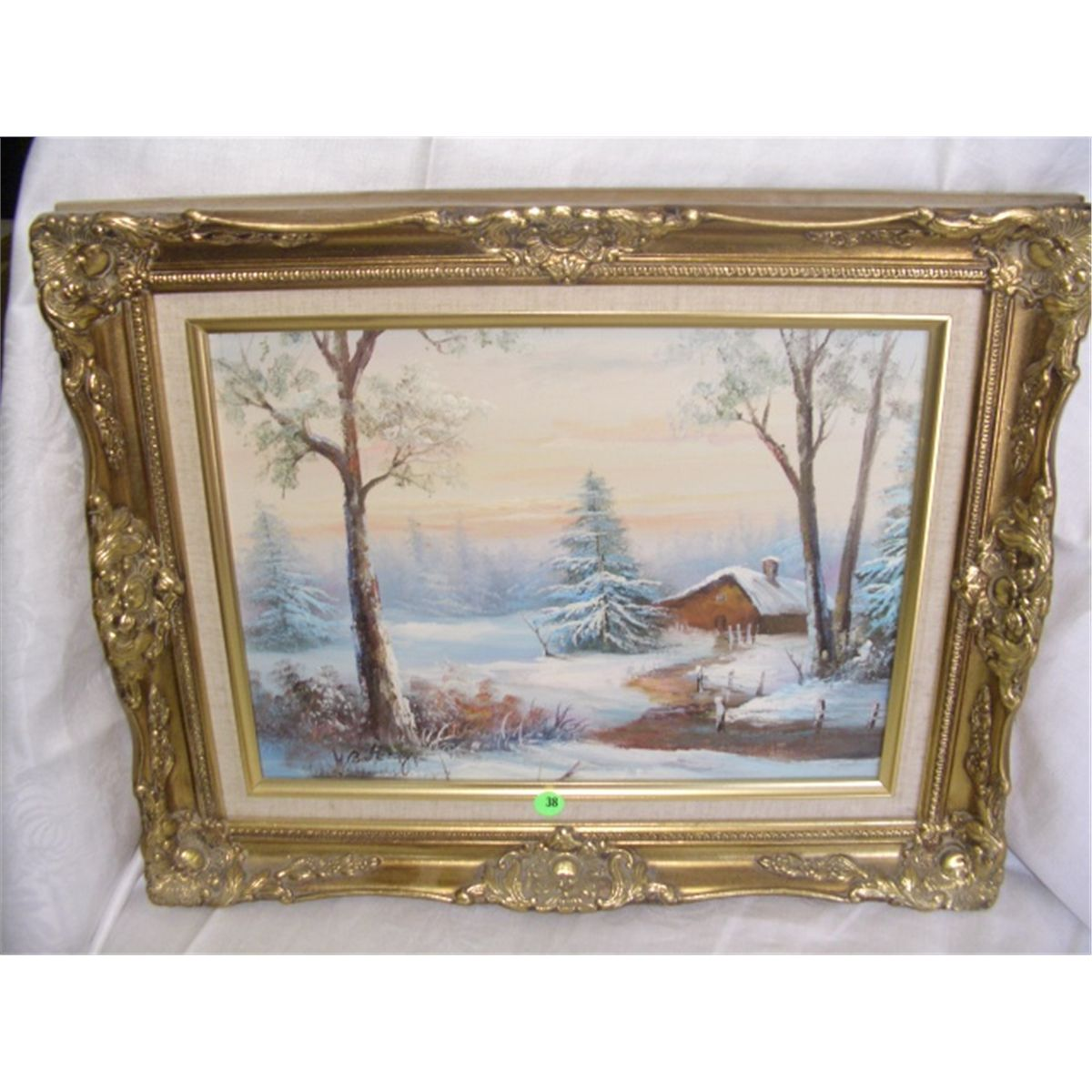 nice oil painting on canvas signed, \