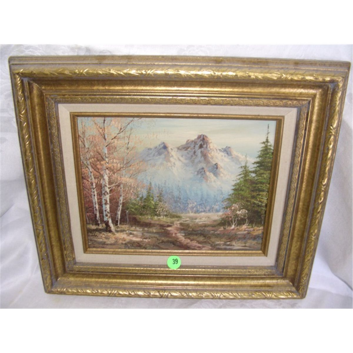 nice oil painting on canvas, signed, \