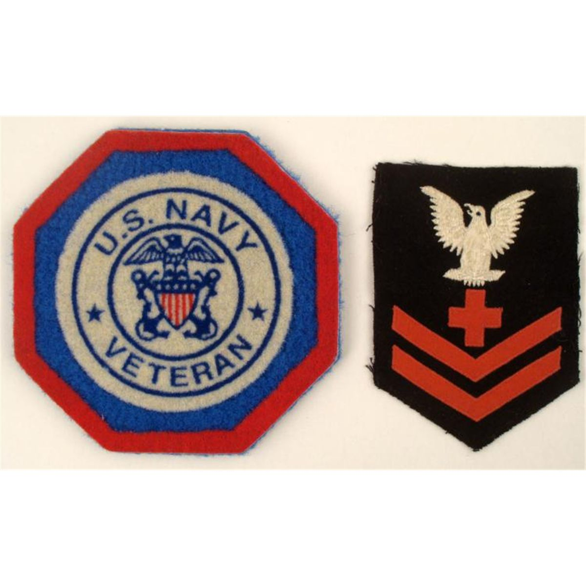Wwii us navy red cross insignia patch and coaster biocorpaavc