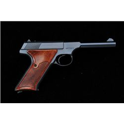 "Colt Huntsman semi-auto pistol, .22LR cal.,  4-1/2"" barrel, blue finish, checkered wood  grips, #167"