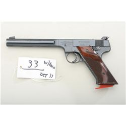 High Standard Model E semi-auto target pistol  with shooting case and Argus Super Grade  spotting sc