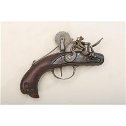 "French style flintlock powder tester circa  1740 to 1780. 6-1/4"" overall resembling  flintlock pisto"