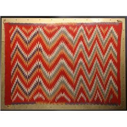 "39-1/2"" x 28"". Finely woven Germantown rug of  tapestry quality measuring 39-1/2""x28"".  Showing eye-"