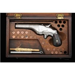 Hammond Bulldog, .44 Henry Rimfire caliber,  single-shot pistol, rare line-throwing  variation, grey