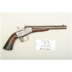 "Remington model 1866 .50 caliber center fire  rolling block pistol with spur trigger,  8-1/2"" standa"