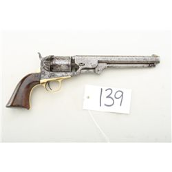 "Colt model 1851 Navy revolver, .36 caliber  percussion, 7-1/2"" octagon barrel, patina  finish, wood"