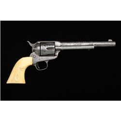"Colt Single Action Army revolver, 7-1/2""  barrel, .44-40 caliber, period scroll  engraved with later"