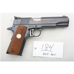 Colt Mark IV series 70 Gold Cup National  Match, .45 ACP caliber semi-automatic pistol,  1971 NRA 10