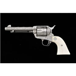"Colt Single Action Army revolver, .45  caliber, 5-1/2"" barrel, third generation,  Western style broa"