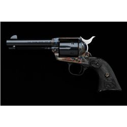 "Colt Single Action Army revolver, .45  caliber, third generation, 4-3/4"" barrel,  blue and case hard"