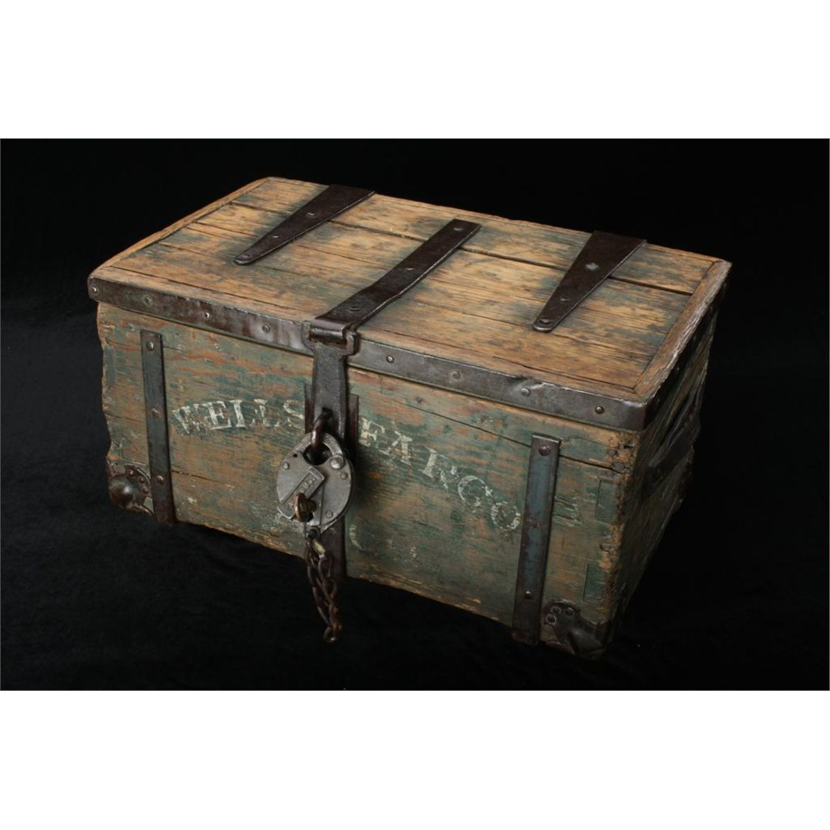 Original Wells Fargo Strong Box With Correct Lock Retaining