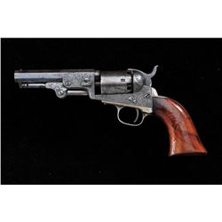 "Early deluxe Gustav Young style engraved 1849  Colt pocket model, .31 caliber, 4"" barrel,  traces of"