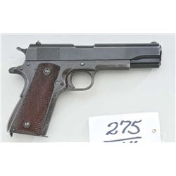 "Colt 1911A1 Government Model .45 ACP caliber  semi-automatic pistol, US Military issue,  showing ""GH"