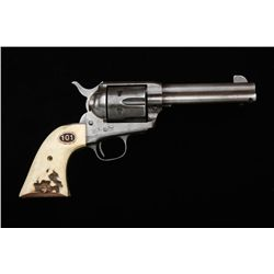 "Colt Single Action Army revolver, .45 Colt  caliber, 4-3/4"" barrel, patina finish with  traces of bl"