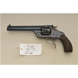 "Smith & Wesson New Model No. 3 Single Action  revolver, .38-40 cal., 6-1/2"" barrel, blue  finish, ch"