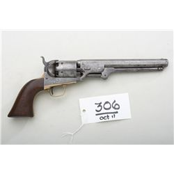 Colt 1851 Navy revolver, .36 caliber  percussion, US Martially issued, slight  traces of blue and ca