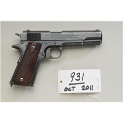 Colt 1911 Government Model, .45 ACP  semi-automatic pistol, civilian series, blued  finish, diamond