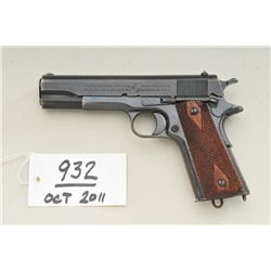 Colt 1911 Government model, .45 ACP caliber,  US Property marked and issued, wood finish,  checkered