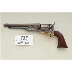 "Colt 1860 Army revolver, .44 caliber  percussion, 8"" barrel, 4-screw  cut-for-shoulderstock variatio"