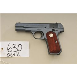 "Colt U.S. Property-marked General Officer's  semi-auto pistol, .32 cal., 4"" barrel, blue  finish, ch"