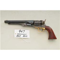 "Colt model 1860 Army revolver, .44 caliber  percussion, 8"" barrel, blue and case hardened  finish, c"
