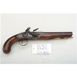"Good quality 19th century flintlock pistol  signed ""Patrick Liverpool"". The pistol is  approx. .62 c"