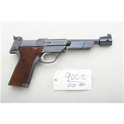High Standard Supermatic Citation, .22  caliber semi-automatic pistol with factory  barrel weights,