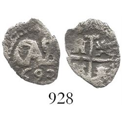 Potosi, Bolivia, cob 1/2 real, 1693.