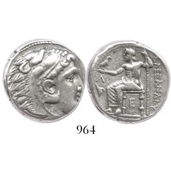 KINGS of MACEDON. Alexander III (the Great). 336-323 BC. AR tetradrachm. Cassander as regent, 317-30