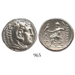 KINGS of MACEDON, Alexander III (the Great). 336-323 BC. AR tetradrachm. Amphipolis mint. Struck und