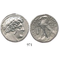 "PHOENICIA, Tyre. 126/5 BC to 65/6 AD. AR tetradrachm (""Shekel of Tyre""). Dated 97/6 BC (CY 30)."